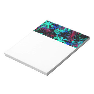 Bright tropical palms notepad