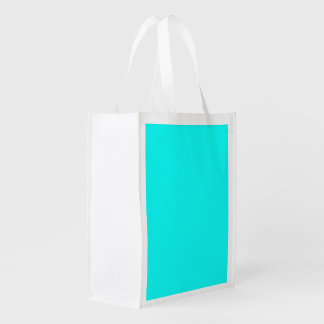 Bright Turquoise color Grocery Bags