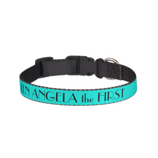 Bright Turquoise Dog Collar Personalized Pet Collar