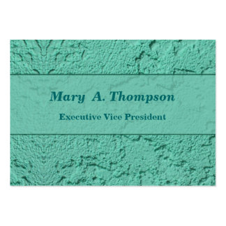 Bright Turquoise Stucco Texture Pack Of Chubby Business Cards
