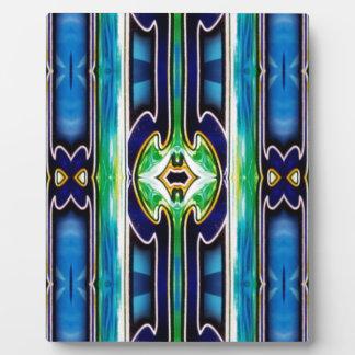 Bright Unique Tribal Pattern Display Plaque
