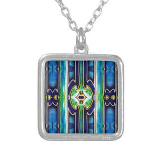 Bright Unique Tribal Pattern Silver Plated Necklace