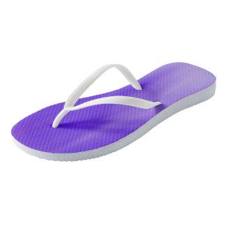 Bright Violet Ombre Wave flip-flops Thongs