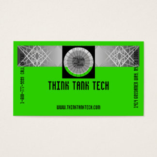 Bright Vivid Colorful Eye-Catching Tech Biz Business Card