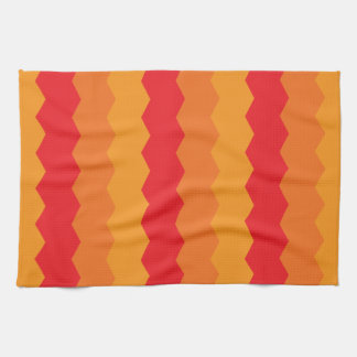 Bright Warm Abstract Waves Tea Towel