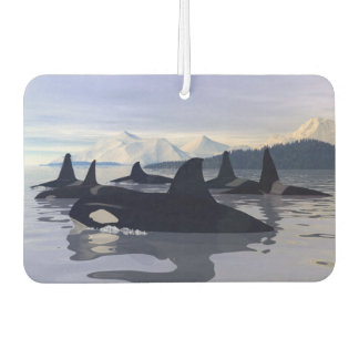 Bright Water Orca Car Air Freshener