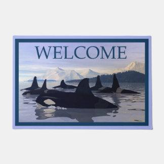 Bright Water Orca - Welcome Doormat