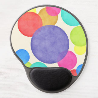 Bright Watercolor Circles Gel Mouse Pad