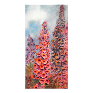 Bright Watercolor of Foxgloves Card