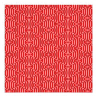 Bright Watermelon Red Circle Pattern Poster