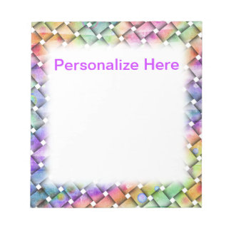 BRIGHT WEAVE Personalizable NOTE PADS