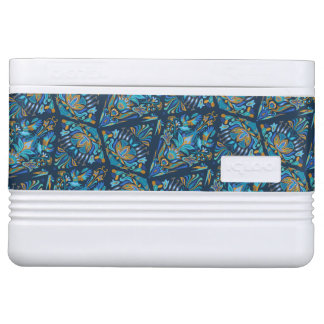Bright wedding geometric floral tradition pattern cooler
