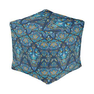 Bright wedding geometric floral tradition pattern pouf