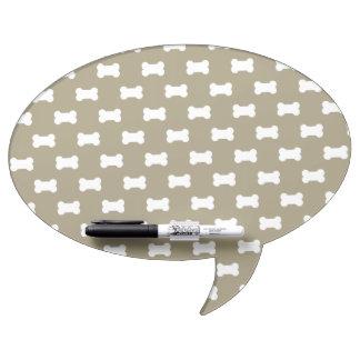 Bright White Dog Bones On khaki Beige Background Dry Erase Whiteboards