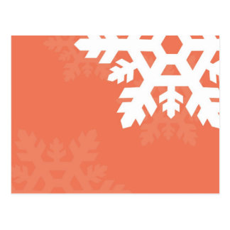 Bright, White Snowflakes against Pink Postcard