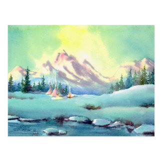 BRIGHT WINTER DAY by SHARON SHARPE Postcard