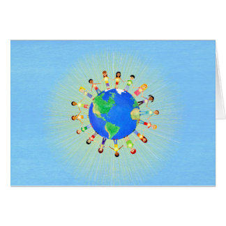Bright World Notecards Card