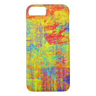 Bright Yellow Abstract Art iPhone 7 case