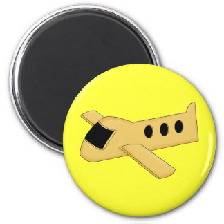 Bright Yellow Airplane Magnet