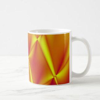 Bright Yellow and Orange Fractal Coffee Mug