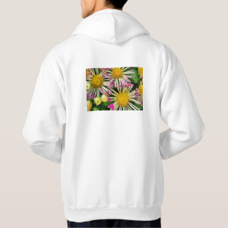 Bright yellow and pink flowers hoodie