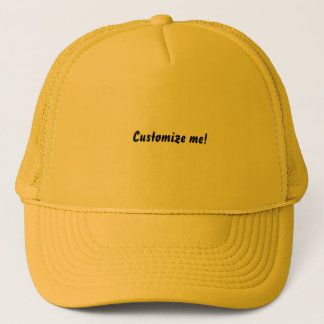 Bright yellow baseball hat