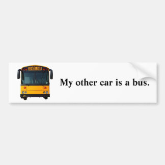 Bright Yellow Bus Bumper Sticker