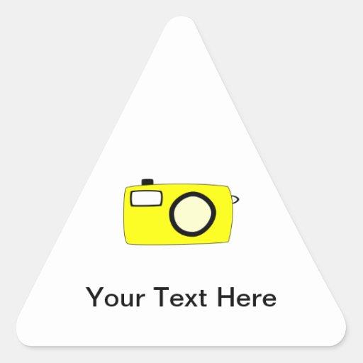 Bright Yellow Camera. On White. Sticker