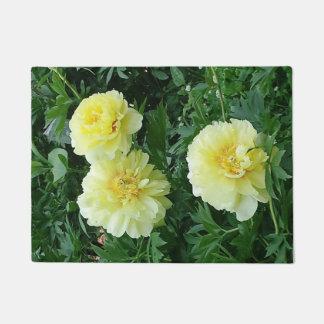 Bright Yellow Chrysanthemum Door Mat