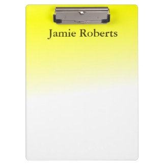 Bright Yellow Clipboard