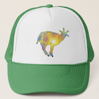 Bright Yellow colourful Goat Funny Animal Design Trucker Hat
