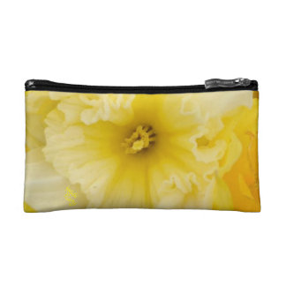 Bright Yellow Daffodils Cosmetics Case Makeup Bag