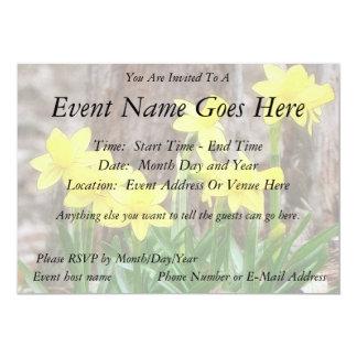 Bright Yellow Daffodils Custom Invite