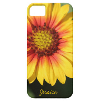 Bright yellow daisy, personalized iPhone Case