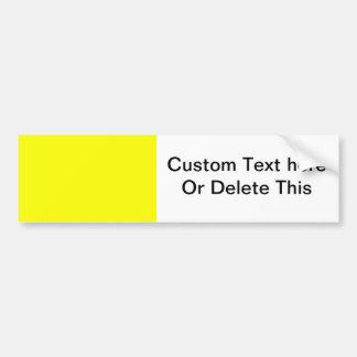 bright yellow DIY custom background template Bumper Sticker