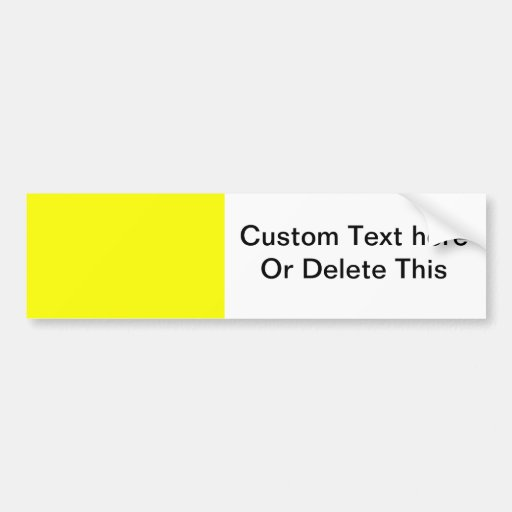 bright yellow DIY custom background template Bumper Stickers
