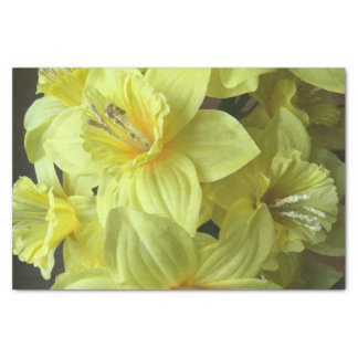 Bright Yellow Easter Lillies Tissue Paper