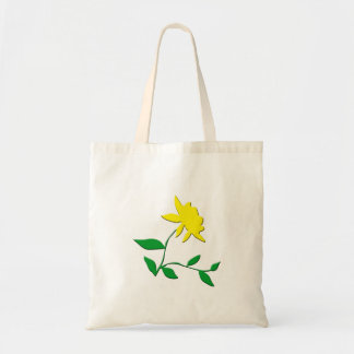 Bright yellow flower budget tote bag