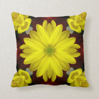 Bright Yellow Flower Double-Sided Cushions