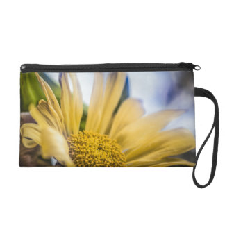 Bright Yellow Flower Wristlet Clutches
