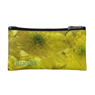 Bright Yellow Flowers Personalized Cosmetic Bags