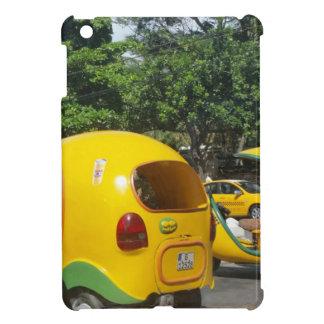 Bright yellow fun coco taxis from Cuba Cover For The iPad Mini
