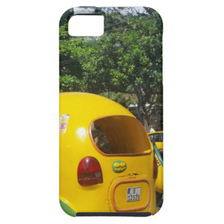 Bright yellow fun coco taxis from Cuba iPhone 5 Cover