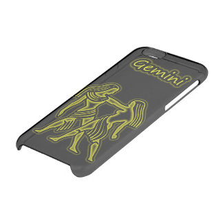 Bright yellow Gemini Clear iPhone 6/6S Case