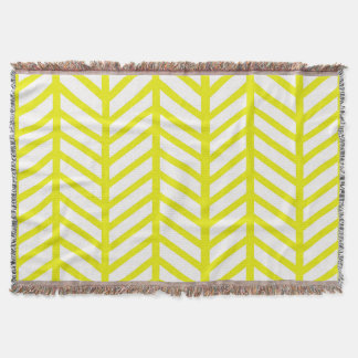 bright yellow herringbone
