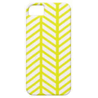 bright yellow herringbone case for the iPhone 5