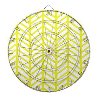 bright yellow herringbone dartboard