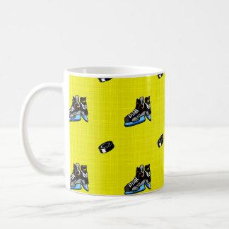Bright Yellow Hockey Pattern Mug