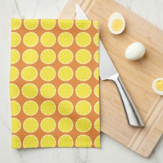 Bright Yellow Lemon Citrus Fruit Kitchen Towel