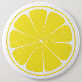 Bright Yellow Lemon Citrus Fruit Slice Design 6 Cm Round Badge